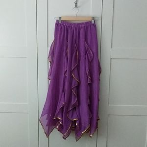 Lovely Chiffon Belly Dance Skirt with Ruffles